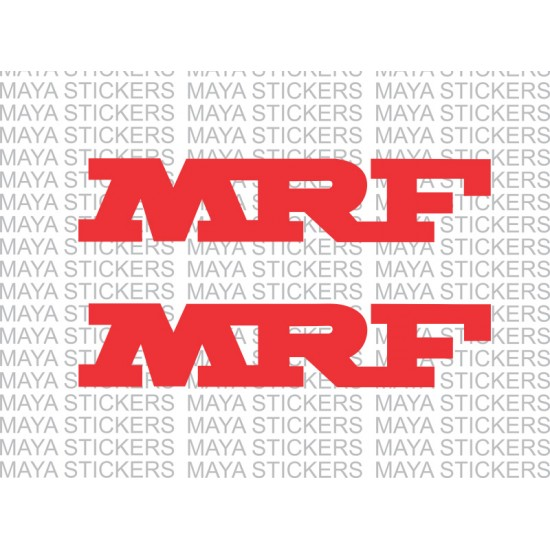 mrf logo stickers for cars bikes and helmet