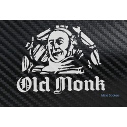 Old Monk Rum stickers for Cars, Bikes, Laptop and walls