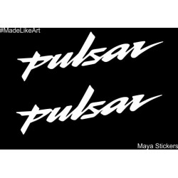 Pulsar logo sticker suitable for all pulsar models  Set of 2 stickers