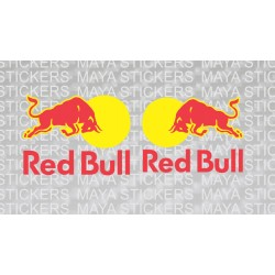 Red Bull Full logo sticker with Red Bull Text