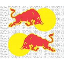 Red Bull stickers for Bikes, cars and laptop. Pair of 2 flipped images for either sides