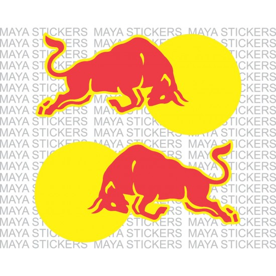 Red bull stickers for bikes cars and laptop pair of 2 flipped images for