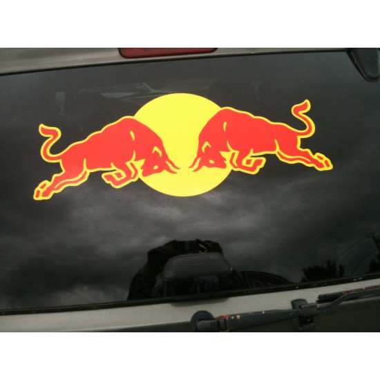 Red bull racing sticker decal for bikes cars and laptop