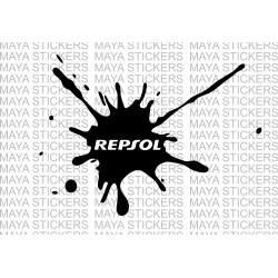 Repsol logo in Ink splash design for Honda CBR and other bikes.