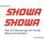 Showa logo decal sticker for  bikes fork, suspension, shockers, stump.