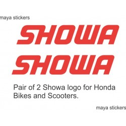 Showa logo decal sticker for Honda bikes fork, suspension, shockers, stump. (pair of 2 stickers)