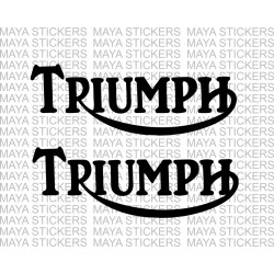 Triumph old logo stickers. Custom colors and sizes  (pair of 2 stickers)
