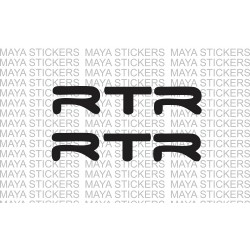 TVS apache RTR logo stickers / decals