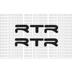 TVS apache RTR logo stickers / decals