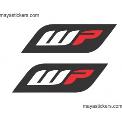 WP logo sticker for KTM duke and other bike forks, stumps, suspension, shockers (pair of 2 stickers )