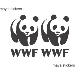 WWF panda logo for cars, bikes and laptop - Combo pack of 2 stickers
