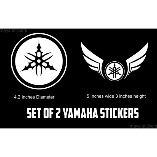 yamaha tribal logo and yamaha wings vinyl decal sticker for yamaha bikes /  motorcycles