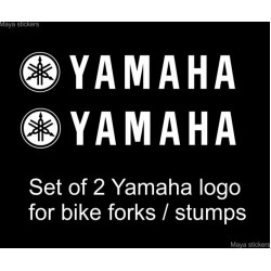 Yamaha full logo sticker / decal for yamaha bike stumps, rims and others (pair of 2)