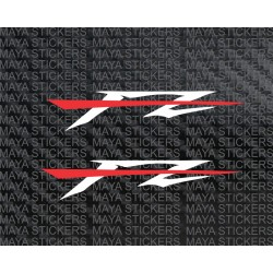 Yamaha FZ logo bike sticker decal Dual color (pair of two stickers)