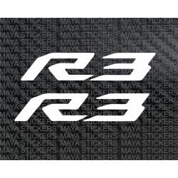 Yamaha R3 logo sticker decal ( Pair of 2 )