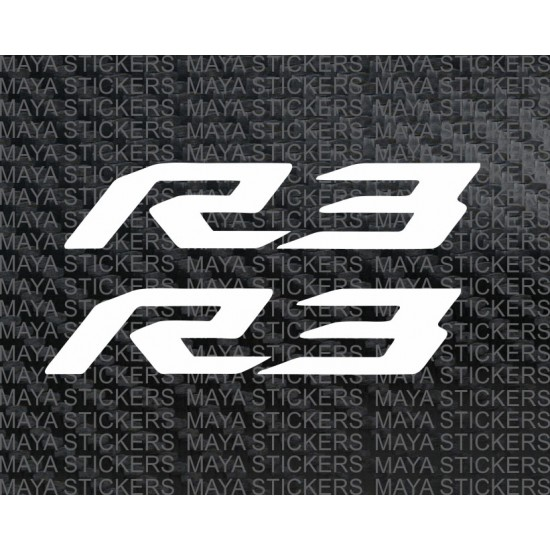 Yamaha r3 logo sticker decal pair of 2