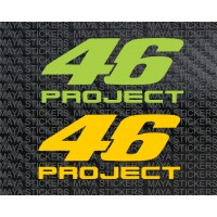 46 Project Valentino Rossi stickers for bikes, helmets and laptops (Pair of 2 Stickers)