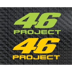 46 Project Valentino Rossi stickers for bikes, helmets and laptops
