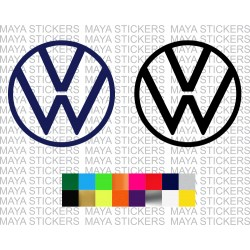 Volkswagen new 2019 logo decal stickers for cars, laptops. mobiles