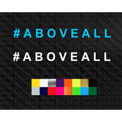 #ABOVEALL sticker for Tata Harrier and others