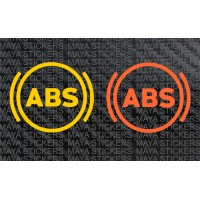 ABS - Anti-lock Braking system logo decal stickers (Pair of 2)