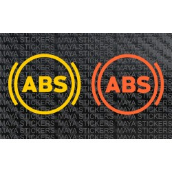 ABS - Anti-lock Braking system logo decal stickers (Pair of 2)