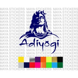 Adiyogi shiva decal sticker for cars, bikes, laptops