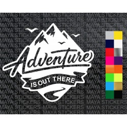 Adventure is out there decal sticker for cars, bikes, helmets