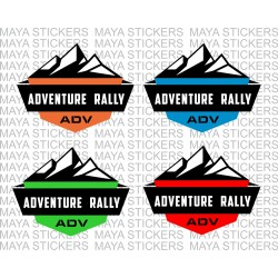 Adventure rally stickers for ADV, offroad, cars and bikes.