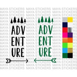 Adventure stickers for cars, bikes, laptops, mobile ( Pair of 2 )