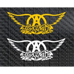 Aerosmith logo decal stickers in custom colors