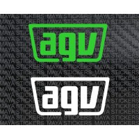 AGV simple logo decal sticker (Pair of 2 stickers)