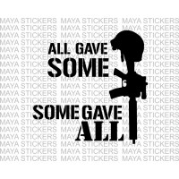 All gave some, some gave all military stickers for motorcycles, cars, laptops
