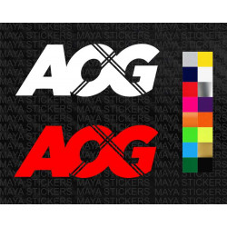 Apache Owners Group - AOG logo stickers for TVS Apache and helmets
