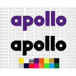 Apollo tyres logo decal stickers for cars and bikes