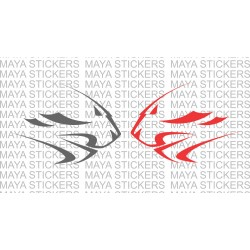 Aprilia Factory racing cheetah head logo decal  (Pair of 2 )