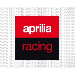 Aprilia racing logo stickers in 3 color for bikes