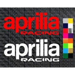 Aprilia racing new logo sticker for motorcycles, scooters, helmets
