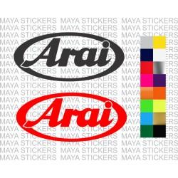 Arai helmets logo stickers in for bikes, cars, helmets