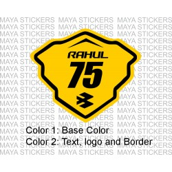 Racing style name and number sticker for Bajaj Pulsars ( dual color )