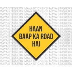 Baap ka road funny desi sticker