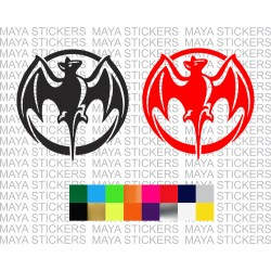 Bacardi bat logo decal sticker in custom colors and sizes