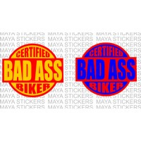 Bad Ass biker cool dual color decal stickers for all bikes