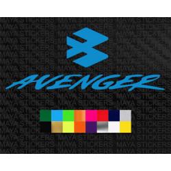 Bajaj Avenger full logo sticker for motorcycles and helmets