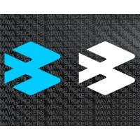 Bajaj auto logo emblem stickers ( Pair of 2)