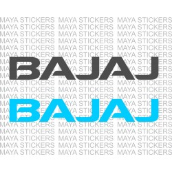 Bajaj textual logo decal sticker ( Pair of 2 )