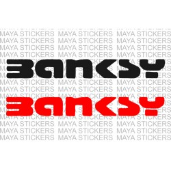 Banksy stencil style logo decal stickers ( Pair of 2 )