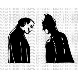 Batman and Joker Decal sticker for cars, bikes, laptops