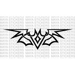 Bat tribal design sticker / decal for cars, bikes, laptops