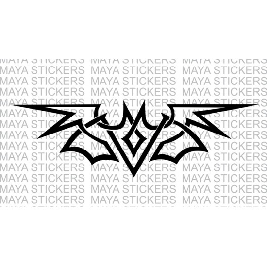 Bat tribal design sticker decal for cars bikes laptops
